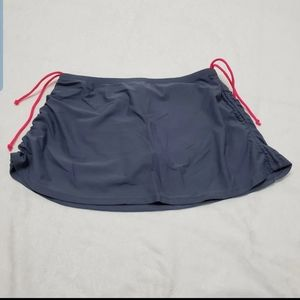 Other - Swim Skirt Women's Medium Gray Pink Cinch Sides